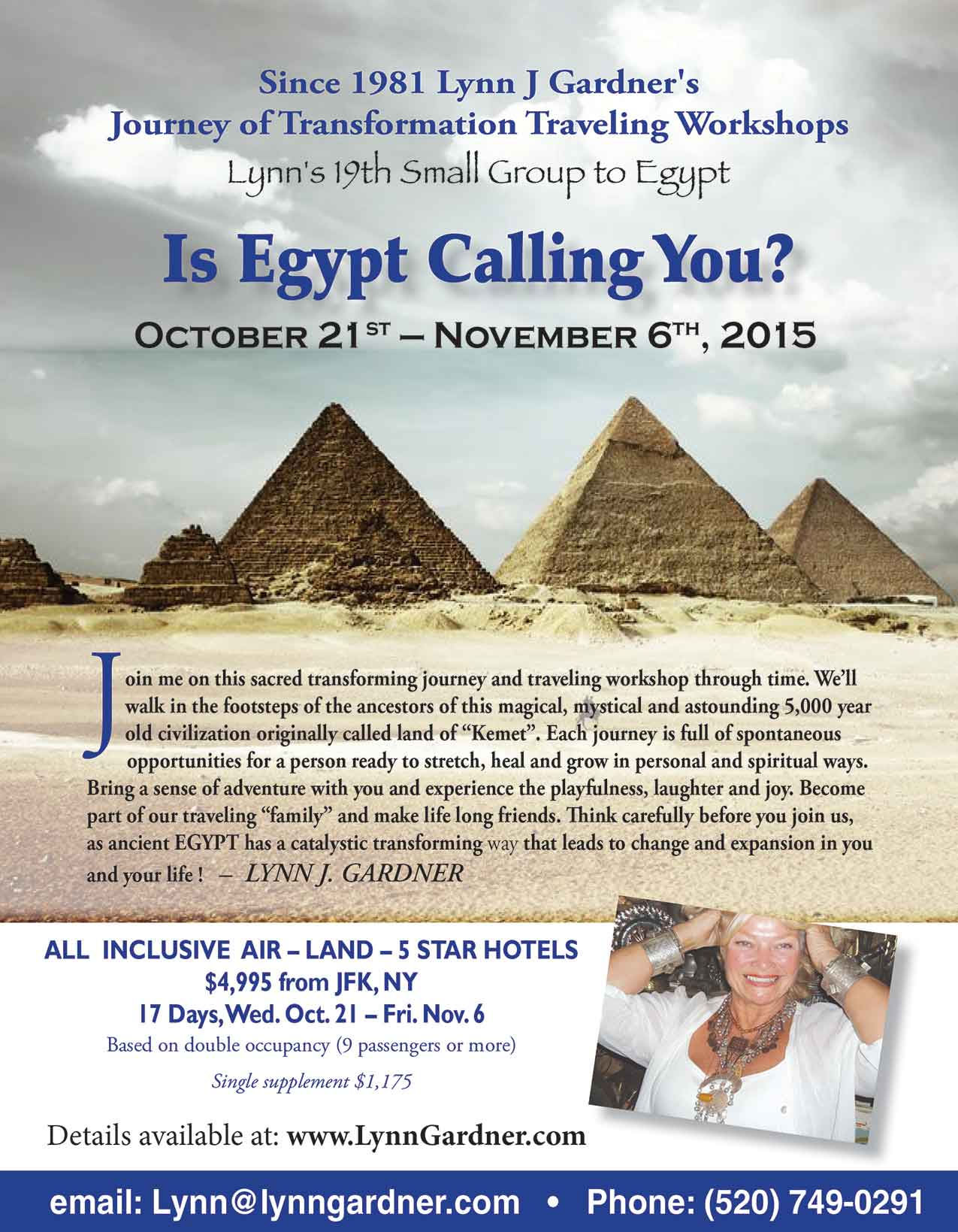 Lynn's 19th small group to Egypt: Oct 21 - Nov 6 2015